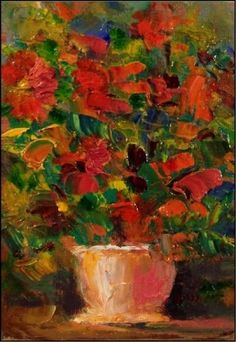 Potted Palette, painting by artist Maryanne Jacobsen