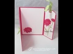 Greeting Card with Bookmark www.frenchiestampscom - YouTube love it! I've been looking for something like this!