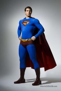 Superman Returns promo shot of Brandon Routh