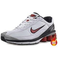 new styles ea5a6 350f1 Mens Nike Shox R6 White Red Lether Nike Basketball Shoes, Running Shoes Nike,  Nike