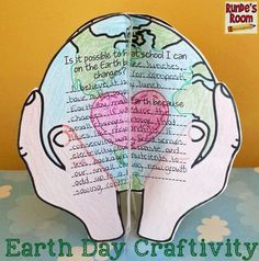 Earth Day Craftivity - makes a beautiful display of learning in the classroom - and really gets students THINKING! Earth Day Activities, Holiday Activities, Science Activities, Classroom Crafts, Classroom Activities, Classroom Ideas, Earth Day Information, Earth Day Tips, Earth Month
