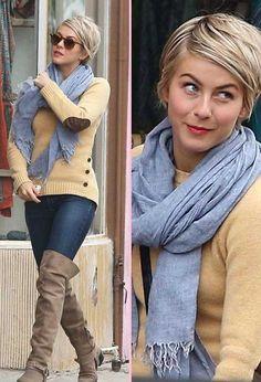 Julianne Hough Short Blonde Pixie