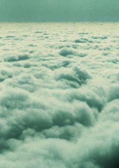 blue green - clouds - or ocean waves?
