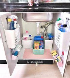 Ideas Bath Room Sink Ideas Organizing Kitchen Organization For 2019 Kitchen Organization Pantry, Diy Kitchen Storage, Home Organization Hacks, Bathroom Organisation, Home Decor Kitchen, Closet Organization, Home Kitchens, Organizing, Kitchen Stuff