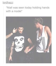 He's the only model to hold hands with Niall and get away with it.