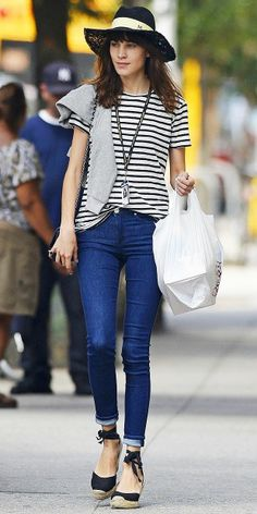 Alexa Chung inspiring me on how to wear my new espadrilles