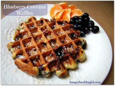 Blueberry Coconut Waffles- Paleo and Gluten-free