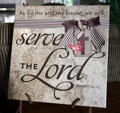 Serve the Lord tile