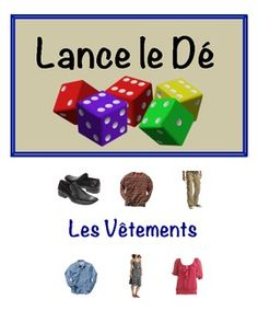 french clothing vocabulary speaking activity for small groups (dice)
