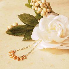 Pearl necklace of orange line | 8,800yen
