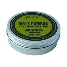 Pure Matt Pomade Dry Fibre Hold Wax 100g