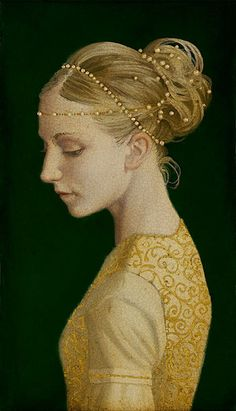 James C. Christensen - Betrothed - SMALLWORKS EDITION CANVAS from the Greenwich Workshop Fine Art Gallery featuring fine art prints, canvases, books, porcelains and gift ideas. Fantasy Kunst, Fantasy Art, Illustration Art, Illustrations, Classical Art, Woman Painting, Painting Art, Watercolor Painting, Renaissance Art