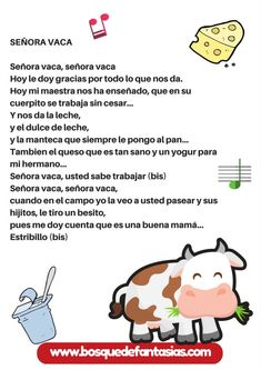 cancion la señora vaca Spanish Class, Teaching Spanish, Spanish Activities, Kids Songs, Books To Read, Musicals, Singing, Science, Education