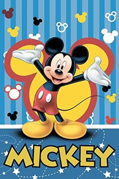 Disney Mickey Mouse Party Blue Fleece Blanket By BestTrend * Be sure to check out this awesome product.
