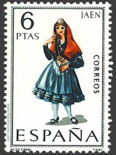 Spain Stamp -  Regional costume Jaén