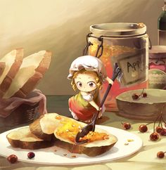 Illustration | Girl | Sweet Sandwich |Ilustración | Niña | Emparedado Dulce