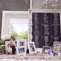 I love the use of classic/vintage frames to display almost anything.