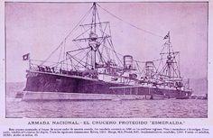 Crucero acorazado Esmeralda, año 1904.