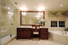 Over sized Master Bathroom