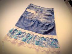 Le petit: Kjol av gamla jeans
