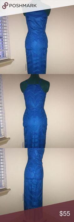 NWOT Gianni Bini aqua blue fringe dress Gorgeous brand new never been worn Gianni Bini bright aqua blue fringe dress! Perfect for a dinner party! Gianni Bini Dresses Midi