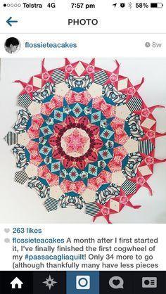 millefiori quilts template pattern - Google Search