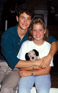 Kirk Cameron and sister Candace Cameron Bure in 1989