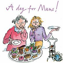 Quentin Blake A Day For Mums Mother's Day Greeting Card Happy Birthday Art, Happy Birthday Greeting Card, Mother's Day Greeting Cards, Vintage Greeting Cards, Birthday Images, Birthday Wishes, Birthday Cards, Birthday Stuff, Quentin Blake Illustrations
