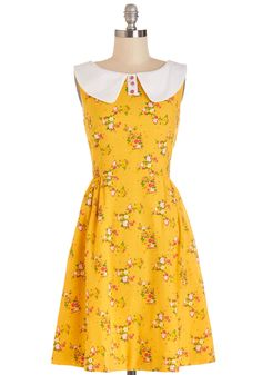 California Sunset Dress. Theres no better place to rest when the sun goes down than on your back porch in this ModCloth-exclusive dress by Bea  Dot! #yellow #modcloth