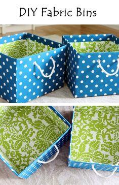 diy fabric crafts | DIY Fabric Bins | Crafts and DIY Community | storage