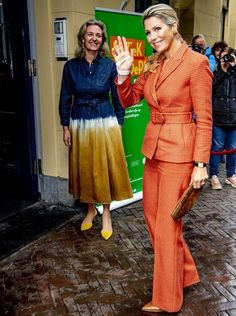 Dutch Royalty, Queen Maxima, Royal Fashion, Utrecht, Conservatory, Netherlands, Suit Jacket, Gowns, Formal