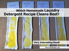 Which Homemade Laundry Detergent Recipe Cleans Best? - http://www.hometipsworld.com/which-homemade-laundry-detergent-recipe-cleans-best.html