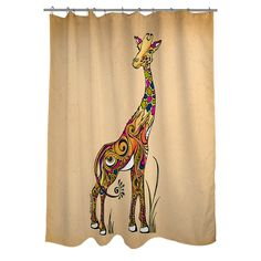 Thumbprintz Giraffe Shower Curtain - Overstock™ Shopping - Great Deals on Shower Curtains