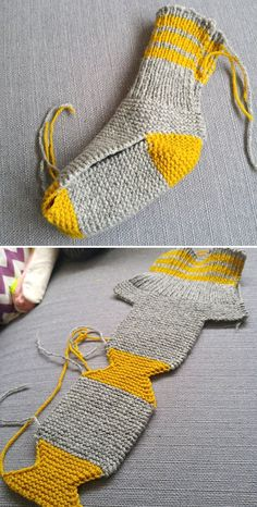 Two Needle Socks - Free Knitting Pattern - Coated - .,Two Needle Socks - Free Knitting Pattern - Coated - ., Produce crochet quilts your self Who does not enjoy a blanke. Crochet Socks, Knitted Slippers, Knitting Socks, Knitting Needles, Free Knitting, Knit Crochet, Loom Knitting, Patron Crochet, How To Knit Socks