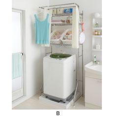 Romapri: Laundry; shelving & organization; カーテン付ステンラックVA