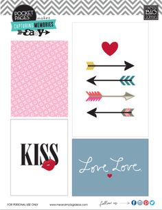 VALENTINE FREE PRINTABLES from Shelby Strichard