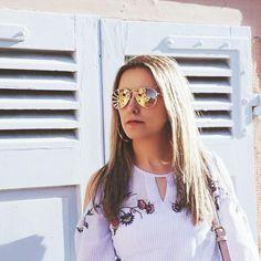 🎀Blogueira🎀 sur Instagram: Bom dia ! #estilo #terestilo #serfashion #mulherchic #mulhervaidosa #mulherfeliz #bomdia #bom_dia #bonjour #goodday #goodlife #goodvibes… Mirrored Sunglasses, Sunglasses Women, Life Is Good, Instagram Posts, Fashion, Happy Women, Bom Dia, Style, Bonjour