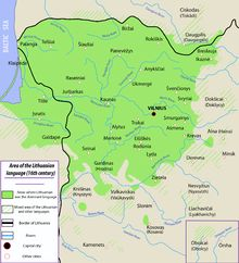 Lithuanian language in the 16th century - Grand Duchy of Lithuania - Wikipedia, the free encyclopedia