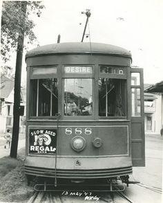 A streetcar named Desire, 1947, New Orleans, Louisiana