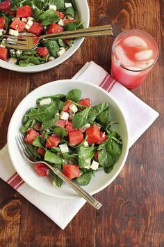 Watermelon, Feta and Arugula Salad - Green Valley Kitchen