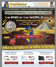 Get upto 75 % Discount on Hostgator hosting...check out http://www.frip.in/hostgator-hosting-end-of-the-world-sale-discount-coupon/#