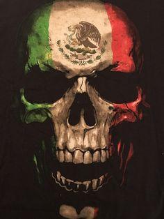Bad Hombre Mexican Flag Skull Fifth Sun Tshirt Medium Short Sleeve Preowned   eBay
