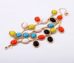 Ornate Artificial Gemstones Bracelet- New In