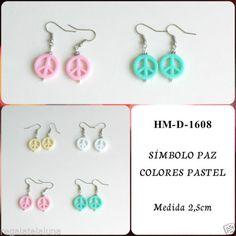 Pendientes-con-simbolos-de-la-paz-en-colores-pastel-Peace-symbol-earrings