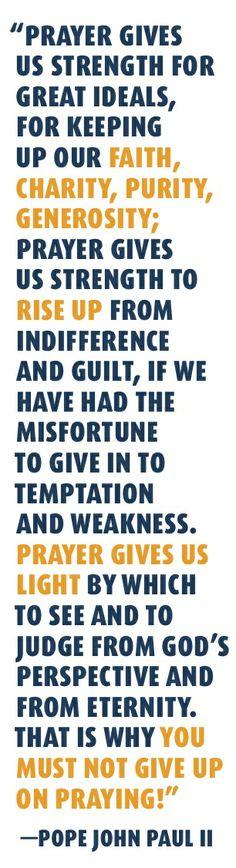 Pope John Paul II Prayer Quote