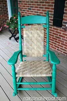 Beautiful heirloom with a beautiful story.  Great blog too! Restored Rocking Chair {rainonatinroof.com} #rockingchair