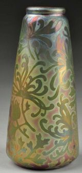 Weller Pottery Overview: Weller Pottery Sicard Vase Designed by Jacques Sicard, Circa 1902-1907
