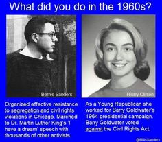 Bernie Sanders civil rights - People can evolve on the issues, but their are some you should have always been on the right side of. Human rights would be one of those issues...