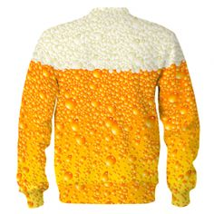 I LOVE OKTOBERFEST Bluza Bez Kaptura Biało - Żółta