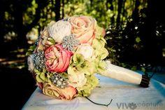 Brooch Bridal Bouquet flowers   Wedding Ideas / Large Bridal brooch and flower bouquet by ...